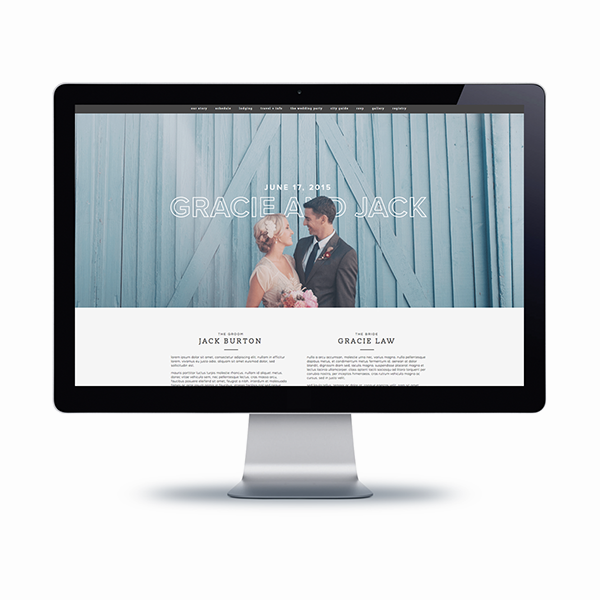 wedding websites | blogzilla studio