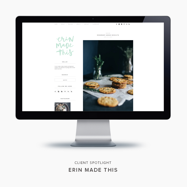 client spotlight | erin made this | blogzilla studio